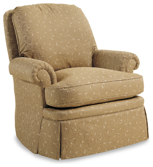 Holton Swivel Rocker - Ginger Barley Fabric traditional-armchairs-and-accent-chairs