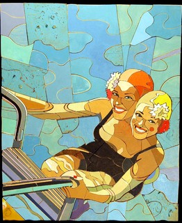 Poolheads no.1 - Contemporary - Artwork - new york - by Peter Buchman