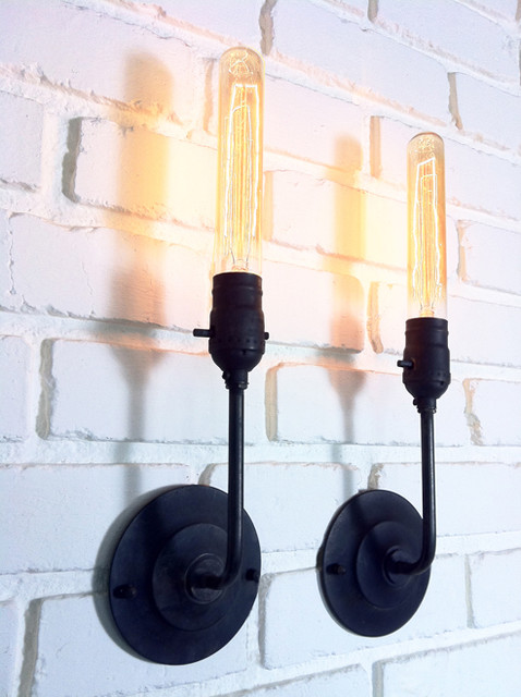 Not On The High Street Industrial Wall Light : Omega Lighting Design