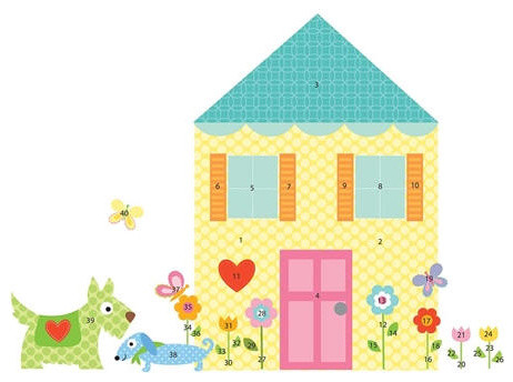 Build A House Mega Pack Removable Repositionable Wall Stickers modern-kids-wall-decor