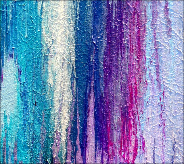 Abstract Textured Fluid Acrylic Paintings By Holly