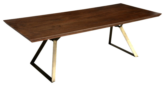 Brooklyn Rustic Industrial Factory Loft Style Wood Iron Dining Table