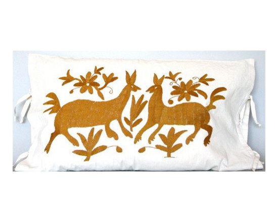 Mexican Embroidered Pillow Covers -
