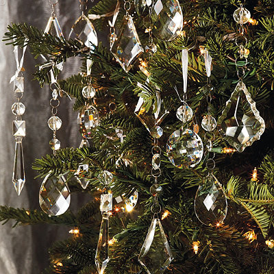 Set of 24 crystal droplets frontgate christmas for 48 lighted crystal 3 d outdoor christmas wreath decoration