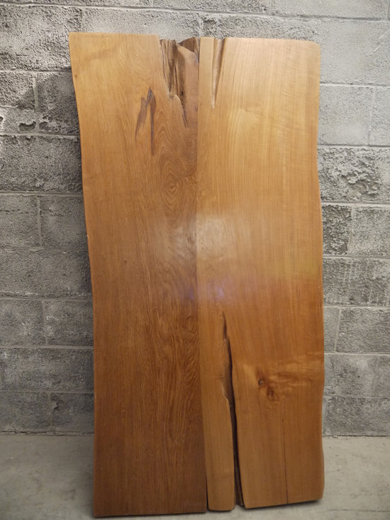 Live edge teak dining table - Charles St-Louis