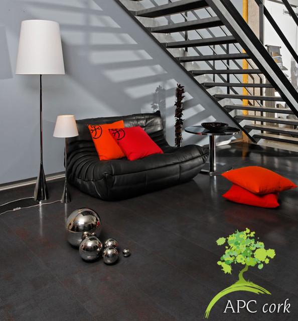 Cork Flooring Examples contemporary