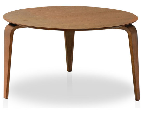 Bryght - Neo Cocoa Dining Table - The Neo dining table is a decorating enthusiast's delight. Its unique three legged design along clean, eclectic and modern lines make it an elegant focal point in any dining area.