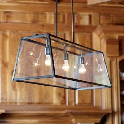 Eldridge Rectangular Chandelier - Ballard Designs transitional-pendant-lighting