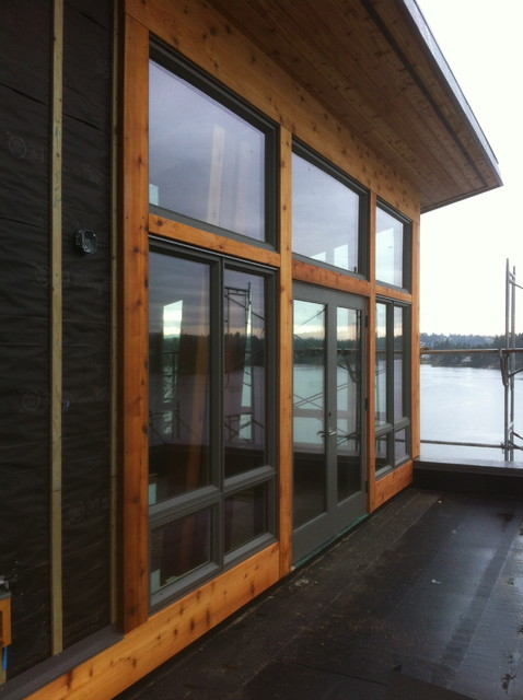 Cedar Trim Modern Vancouver By Black Tree