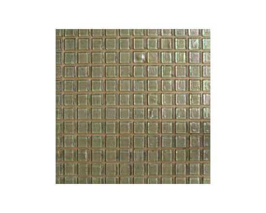 Iridescent Green Glass Mosaics -