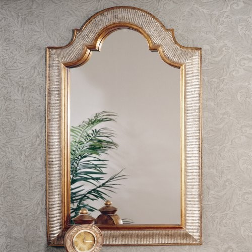 Gold & Silver Arched Decorative Mirror - 29W x 45H in. traditional-mirrors