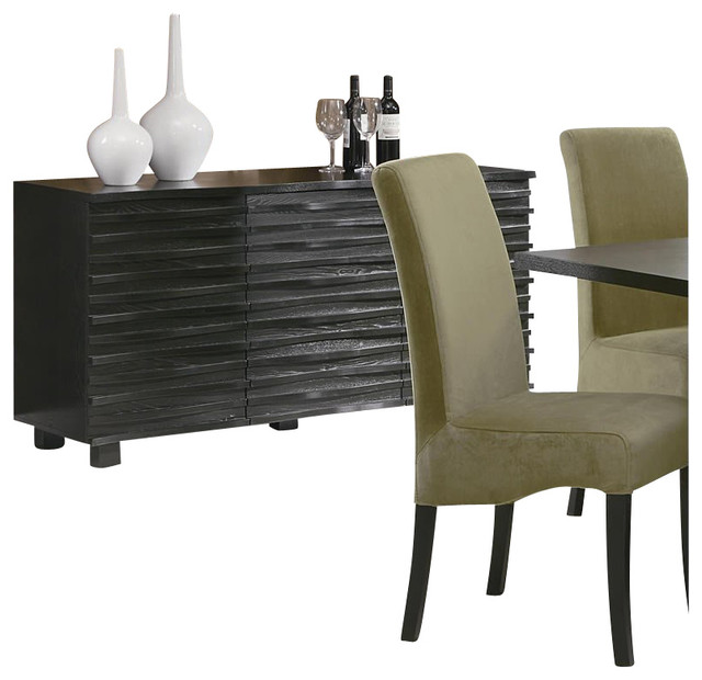 Coaster Stanton Contemporary Buffet Server in Black Finish transitional-buffets-and-sideboards