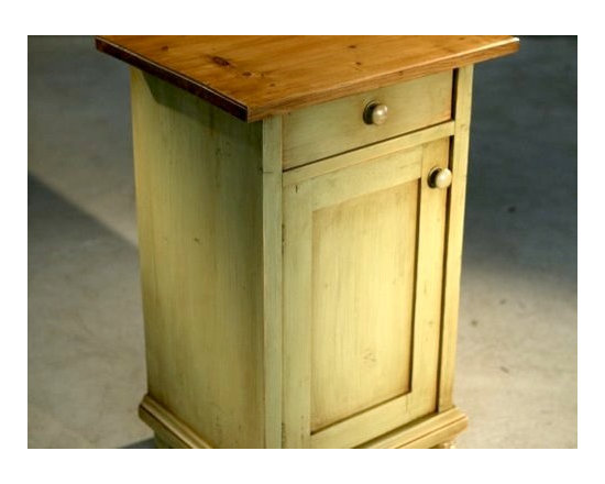 Lightly Distressed Imported European Nightstand - Made by http://www.ecustomfinishes.com