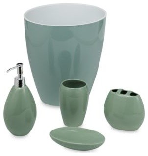 Wamsutta Elements Sage Tumbler Contemporary Bathroom Accessories By Bed Bath Beyond