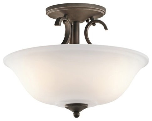 Kichler 42678OZ Sherbrooke 3-Light Semi-Flush Mount traditional-ceiling-lighting