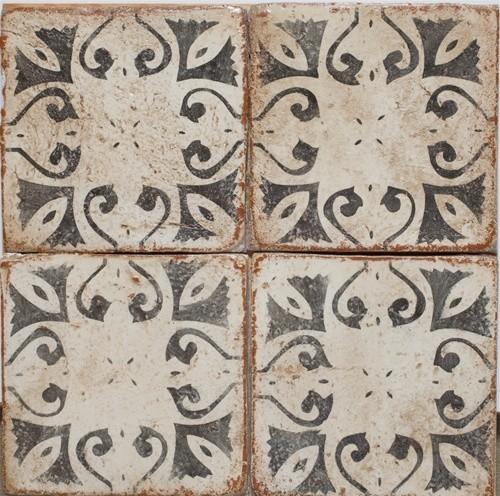 Tabarka Mediterranean Terra Cotta Tile Midcentury