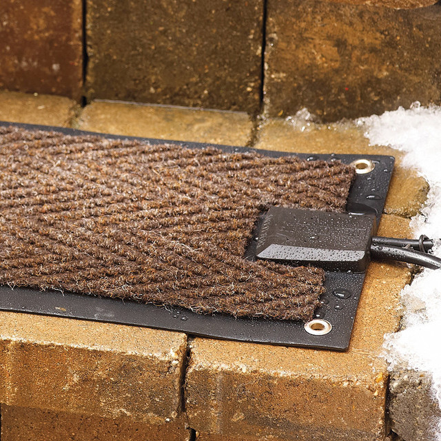 Outdoor Heated Single Stair Mat - Frontgate traditional-doormats