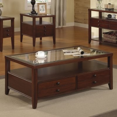 Riverside Avenue Rectangular Storage Coffee Table Set modern-coffee-tables