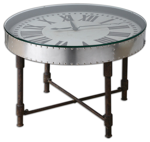 Cassem Clock Table Traditional Side Tables And End Tables By Fratantoni Lifestyles