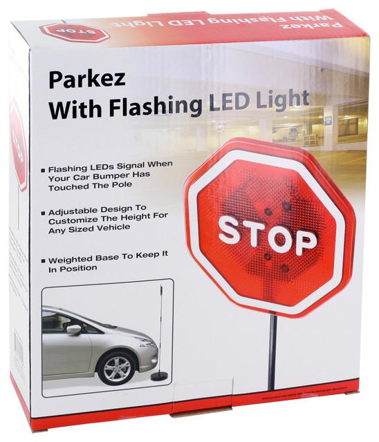 Park EZ Flashing Red LED Light Garage Parking Stop Sign