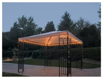 How To Hang String Lights On Gazebo : Threshold String Lights, Gazebo - Contemporary - Outdoor Rope And String Lights - by Target