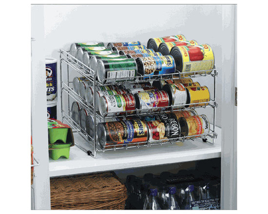 Deluxe Chrome Canned Food Storage Rack -