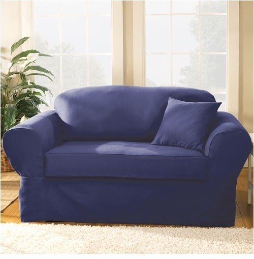 Twill Supreme Separate Seat Sofa Slipcover Modern Slipcovers And Chair Covers By Wayfair