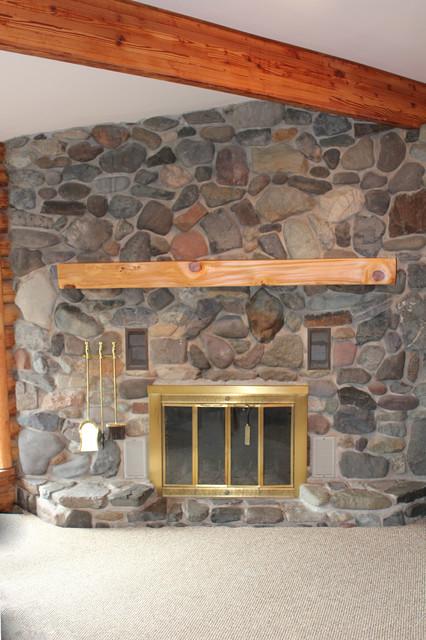 Gig harbor live edge slab mantle traditional living for Furniture gig harbor