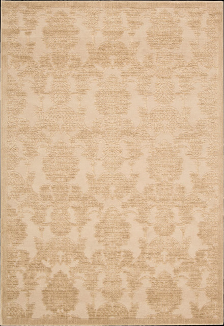 """Graphic Illusions GIL03 2'3"""" x 3'9"""" Light Gold Runner Rug contemporary-rugs"""