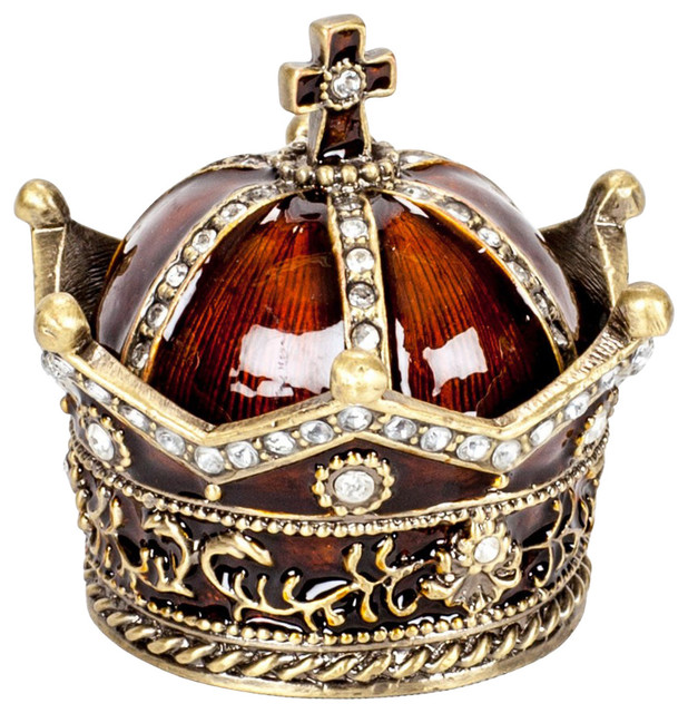 Decorative Jeweled Crown Box - Traditional - Home Decor - by FineStems