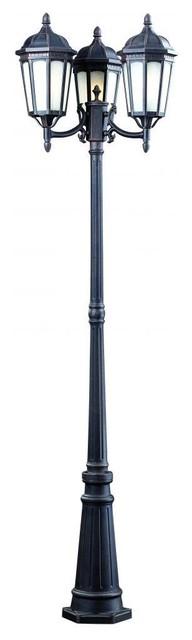 3 light outdoor post light modern outdoor lighting for Contemporary outdoor post light fixtures