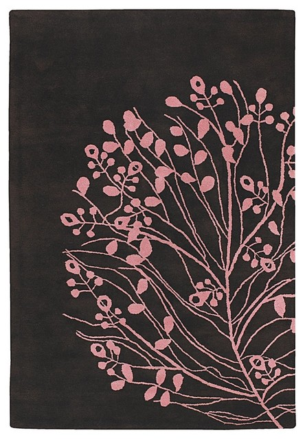 Dharma Modern / Contemporary Hand Tufted Floral Rug contemporary-rugs