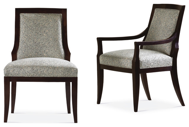 Vienna upholstered chair baker furniture contemporary for Upholstered dining chairs contemporary