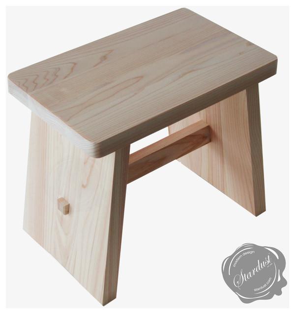 Japanese wooden bath stool osen in hinoki