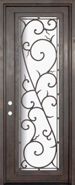 Bellagio 36x96 wrought iron single door 14 gauge steel for 14 gauge steel door