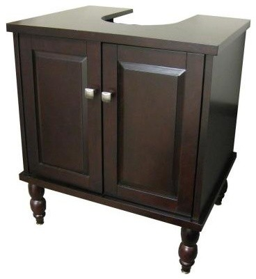 PedVan 25 in. W x 20 in. D Bathroom Vanity Cabinet Only for Pedestal ...