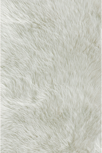Jungle Sheep Skin White Rug Traditional Rugs By