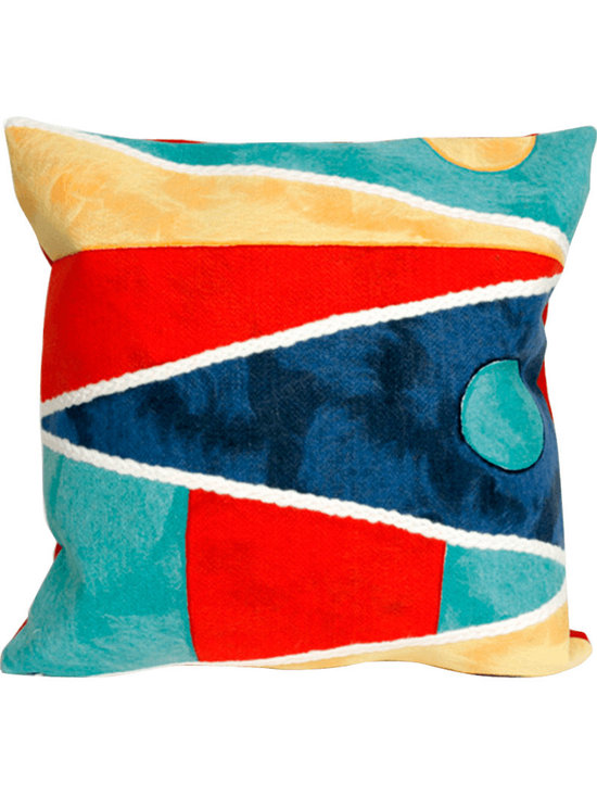 Liora Manne Nautical Flags Throw Pillow