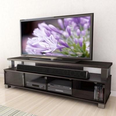 Sonax B-003-RBT Bromley 75 in. 2 Tier TV Bench - Ravenwood Black modern-home-electronics