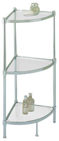 glacier 3 tier corner shelf modern bathroom cabinets. Black Bedroom Furniture Sets. Home Design Ideas