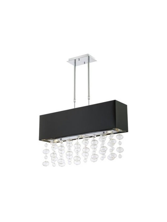 Bubble Cascade Possini Euro Design Rectangular Pendant -