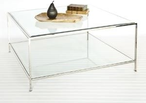 Square Two Tier Coffee Table-Available in Gold Leaf of Nickel Plated coffee-tables