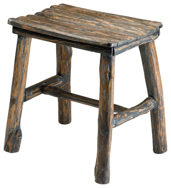 Cyan Design 04064 Vintage Wooden Stool contemporary-footstools-and-ottomans