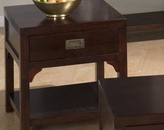 Jofran Garnett Cherry End Table with Drawer contemporary-side-tables-and-end-tables