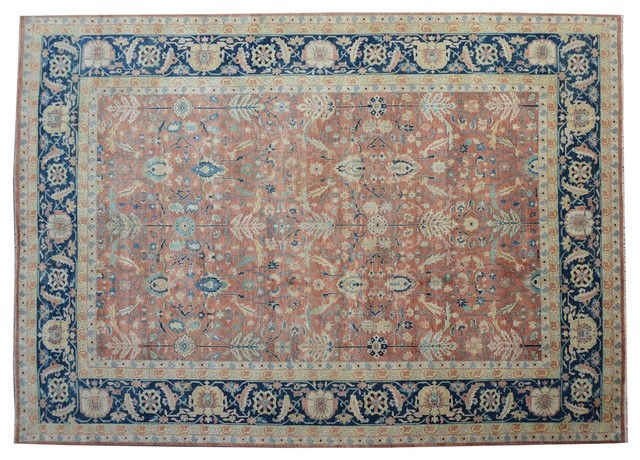 Heriz Oriental Rug Hand Knotted Rug Vegetable Dyes Rust Red Sh9057 traditional-rugs