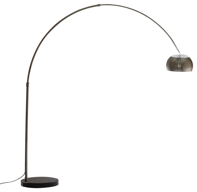 Arco Style Lamp with Black Round Marble Base modern-floor-lamps