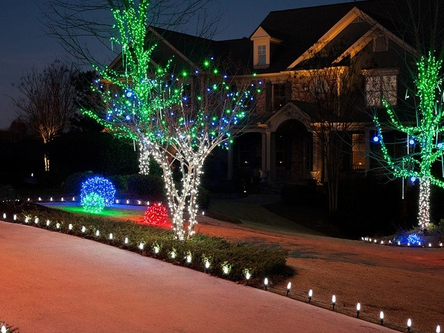 lighting outdoor decorating ideas for christmas
