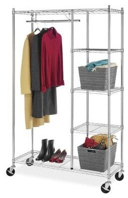 Rolling Garment Shelves Rack contemporary-laundry-products