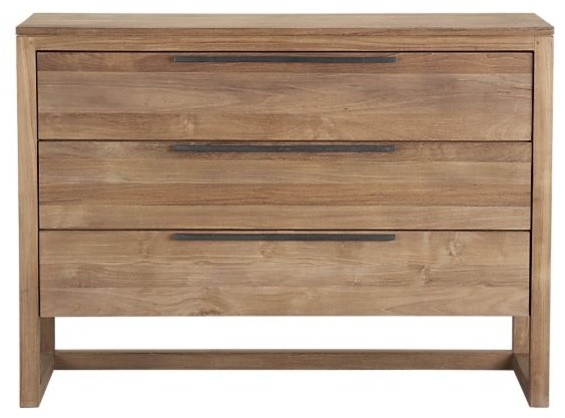 Linea 3-Drawer Chest | Crate&Barrel contemporary-dressers