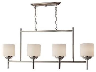 Murray Feiss Malibu Chandelier - 5.06W in. Polished Nickel modern-ceiling-lighting